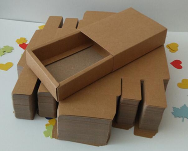 现货折叠牛皮通用干果农产品包装盒